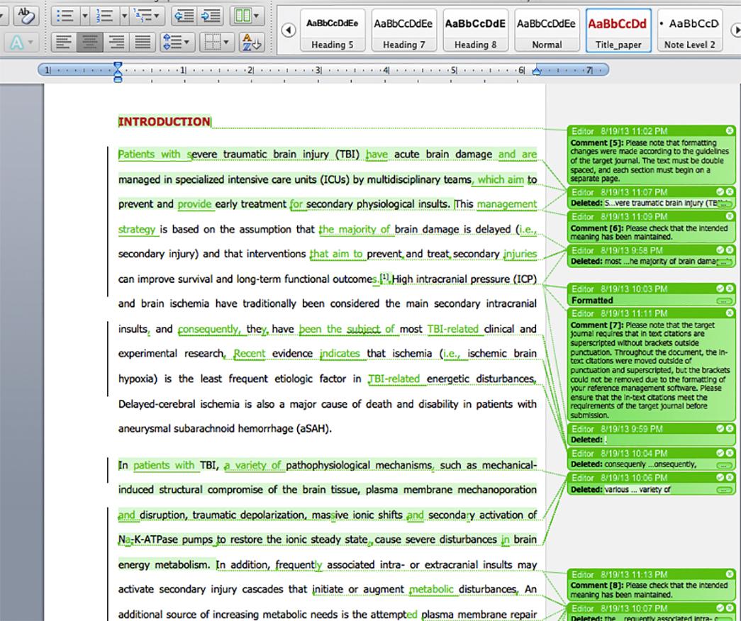 English Language Editing